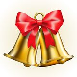Bells with bow Royalty Free Stock Photography