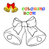 The bells and bow. Coloring Book Stock Photo