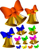 Bells and bows Royalty Free Stock Photo