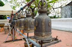 Bells in Buddhism temple Royalty Free Stock Image