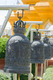 Bells in Buddhism temple Royalty Free Stock Photo