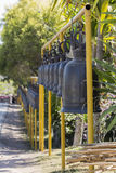 Bells in Buddhism temple, Thailand. Bells in Buddhism temple, Phetchaboon Thailand Stock Image