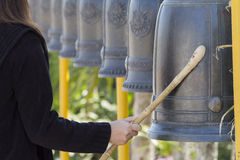 Bells in Buddhism temple, Thailand. Bells in Buddhism temple, Phetchaboon Thailand Royalty Free Stock Photos