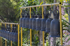 Bells in Buddhism temple, Thailand. Bells in Buddhism temple, Phetchaboon Thailand Stock Photo