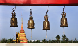 Bells at a Buddhist temple Royalty Free Stock Photos