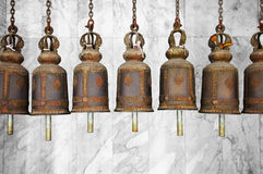 Bells in a Buddhist temple Stock Images