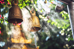 Bells in Buddhist temple Stock Photo