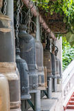 The bells in Buddhist temple Bangkok Stock Photos
