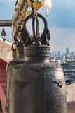 The bells in Buddhist temple Bangkok Royalty Free Stock Images