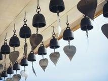 Bells in Buddhist temple Religion symbol Travel Asia Thailand. Peaceful symbol stock image