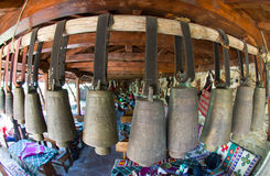 Bells in the Bulgarian countryside tavern Stock Images