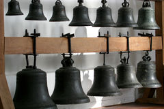 The bells of a carillon. In a church in Arnhem (the Netherlands Royalty Free Stock Images