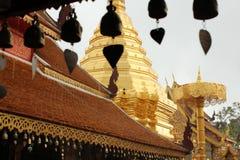 Bells chez Wat Phrathat Doi Suthep, Chiang Mai Images libres de droits
