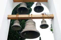 The bells in the church belfry Royalty Free Stock Photos