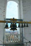 Bells in church belltower Royalty Free Stock Photo