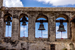 Bells from the courtyard of a California Mission Royalty Free Stock Photography