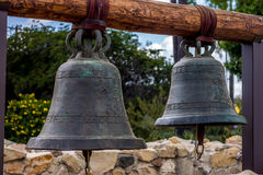 Bells from the courtyard of a California Mission Royalty Free Stock Images