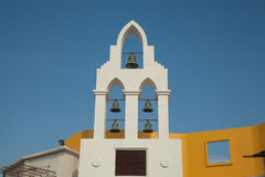 bells on the croatian church tower with blue sky Royalty Free Stock Photo