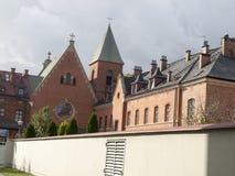 Bells dans le sanctuaire de la pitié à Cracovie en Pologne Lagiewniki Photographie stock libre de droits