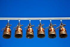 Bells dans le temple de la Thaïlande Photographie stock libre de droits