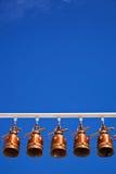 Bells dans le temple de la Thaïlande Images stock