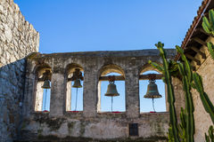Bells de mission San Juan Capistrano Photo stock