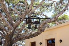 Bells de monastère de Prevely, île de Crète, Grèce Photographie stock