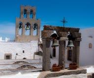 Bells du monastère de la rue John en Grèce Images stock