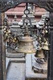 Bells - element of the decor, Swayambhunath Stupa in Kathmandu, Stock Photography