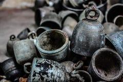 Bells en bronze antiques Photos libres de droits