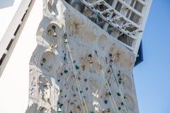 Bells et cordes sur l'escalade Wal Images libres de droits