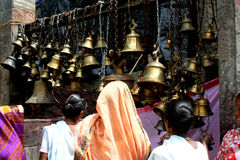 Bells of faith. These are the bells at Kamakhya temple, Guwahati, Assam, India, one of the Shakti peeths (power of Goddess) of India Stock Photo