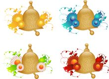 Bells with floral ornaments Stock Photo
