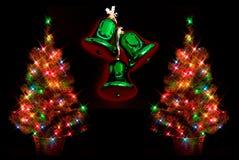 bells glowing trees Στοκ Εικόνα