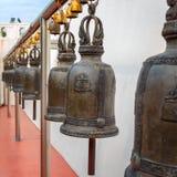 Bells at Golden Mountain or Phu Khao Thong at Wat Saket in Bangkok Stock Image