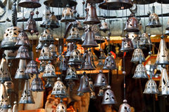 Bells hanging in  market Royalty Free Stock Photos