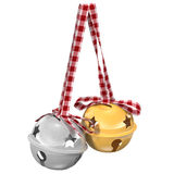 Bells isolated on white background, 3d illustration. Isolated on white background Royalty Free Stock Photo