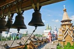 Bells in Izmailovsky Kremlin, Moscow, Russia. Bells on bell tower in Izmailovsky Kremlin, Moscow, Russia Stock Photography