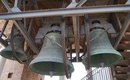The bells of the Lamberti tower in Verona in Italy Stock Photos