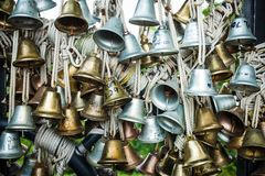 Bells of Love. Small wedding bells symbolizing love of couples Royalty Free Stock Photo