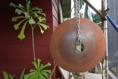 Bells made of Tractor plows. Thailand Royalty Free Stock Images
