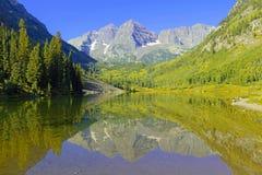 Bells marron, chaîne d'élans, Rocky Mountains, le Colorado Image stock