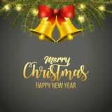 Merry Christmas design. Bells of merry christmas season and decoration theme Vector illustration Royalty Free Stock Photography