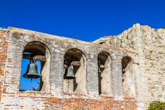 Bells of Mission San Juan Capistrano Royalty Free Stock Photos