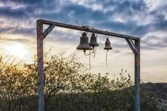 Bells near by the Ruins of Jvari Monastery in Mtskheta, Georgia Stock Photo