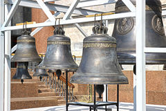 Bells near St. Isaac's Cathedral in St. Petersburg Stock Images