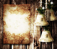 Bells and old paper Stock Photo