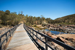 Bells Rapids nature reserve. Unique Landscape of outback Australia, the Avon river, and rock formations Royalty Free Stock Photography