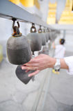 Bells of reincarnation or Samsara in a pagoda. In Thailand Royalty Free Stock Photo