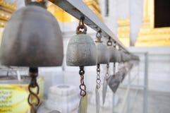 Bells of reincarnation or Samsara in a pagoda. In Thailand Royalty Free Stock Photos
